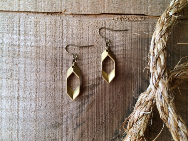 Hexagon Earrings | Retail $18