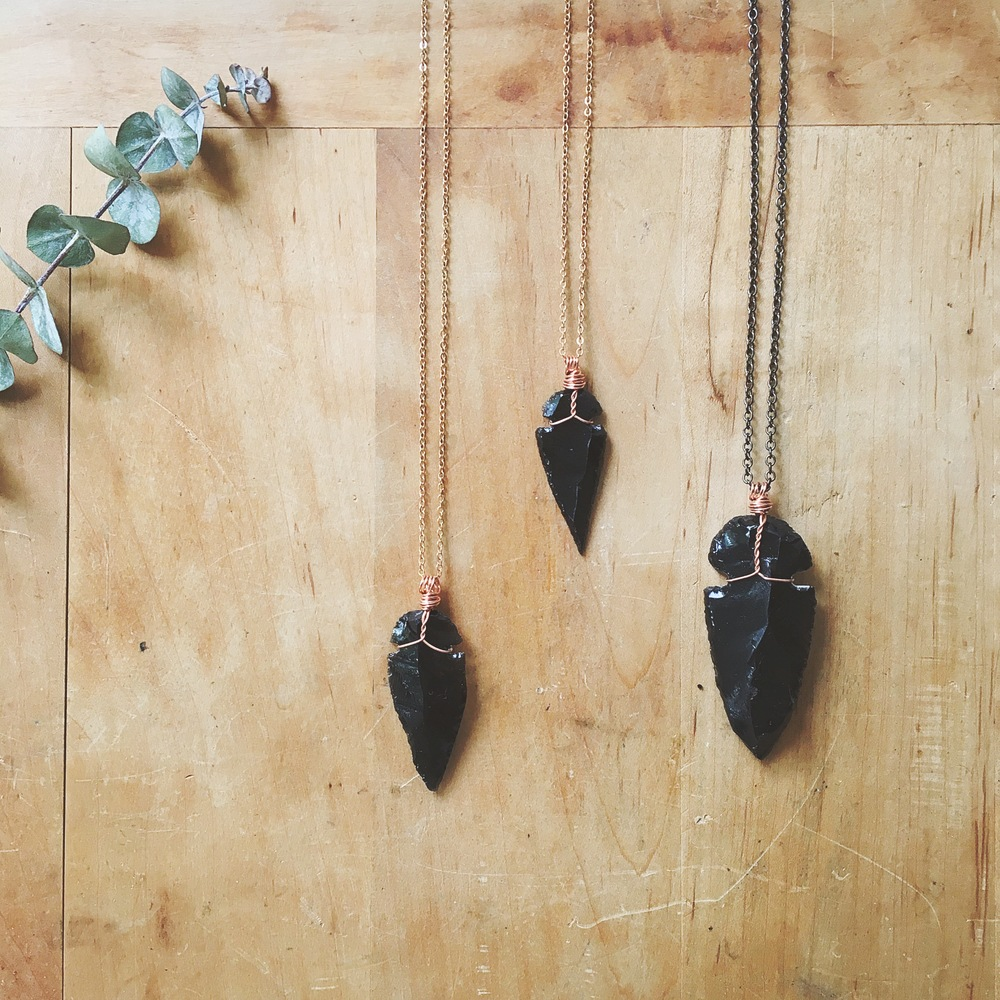 Obsidian Arrowhead Pendant | Retail from $24