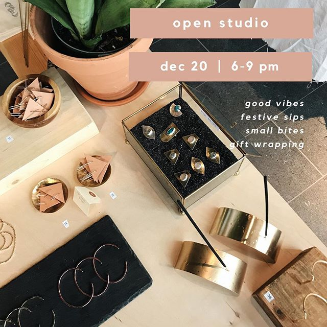 LOCAL #STL FRIENDS! Open Studio is THIS Thursday night!! Finish yer shopping w/ a cocktail in hand, eh? 🥂 Event link in bio!