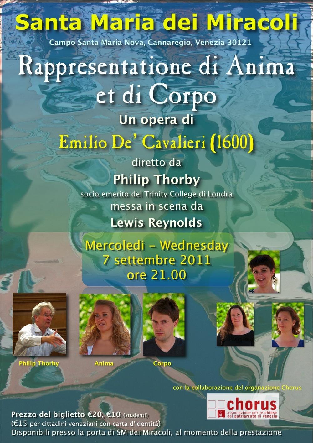 Venice 'Anima & Corpo' poster