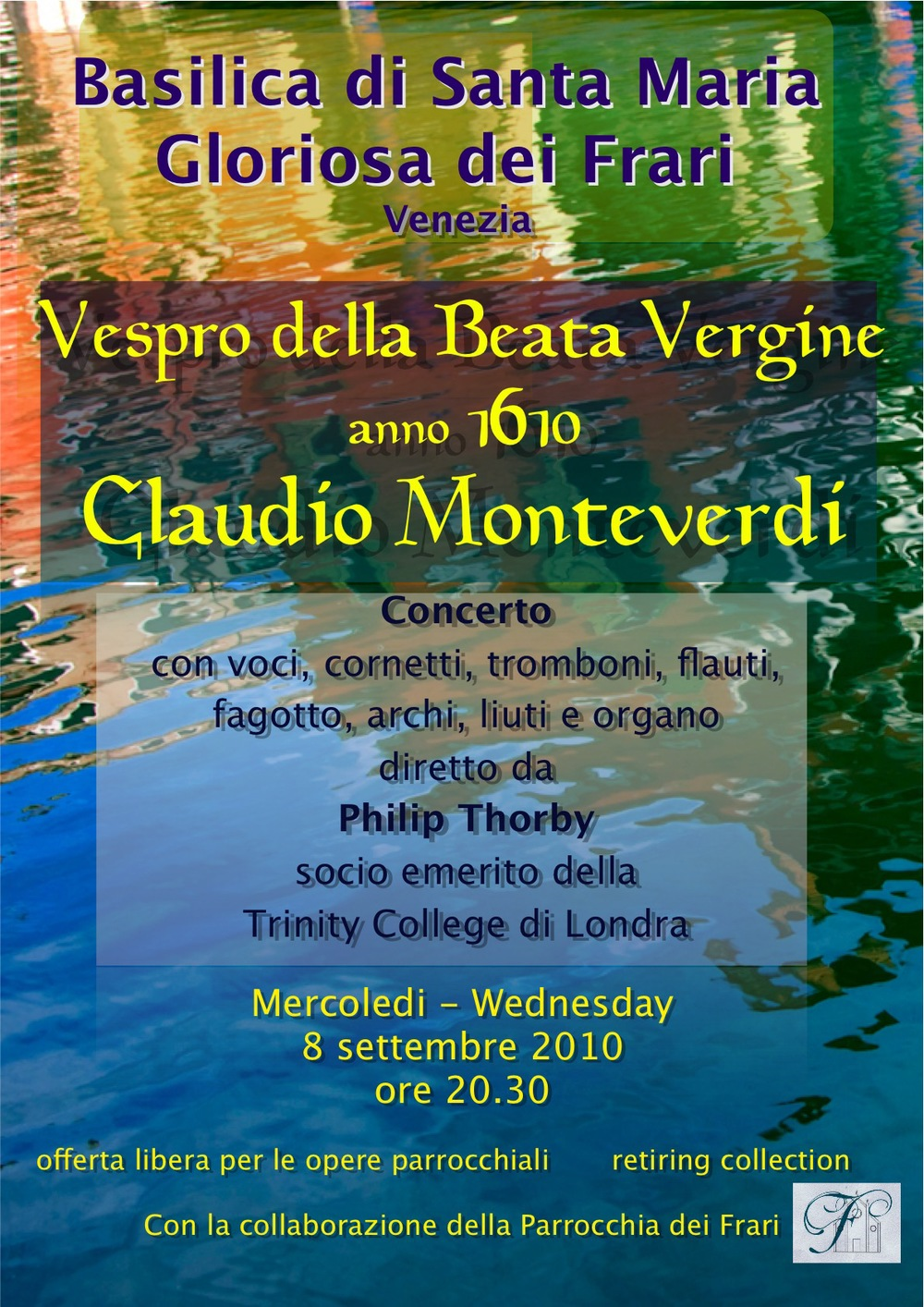 Venice: Monteverdi Vespers Poster
