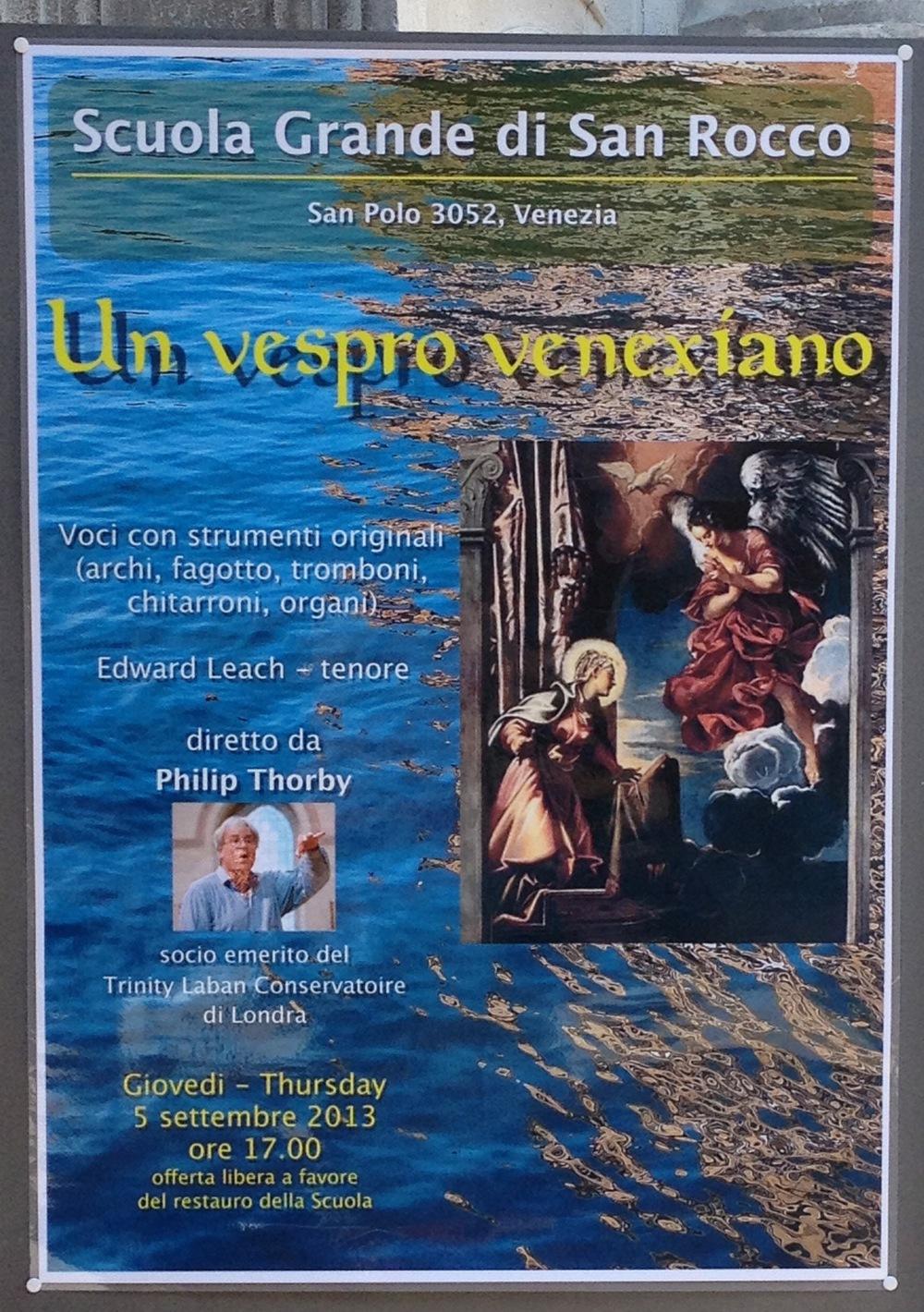 Venice: Venetian Vespers Poster