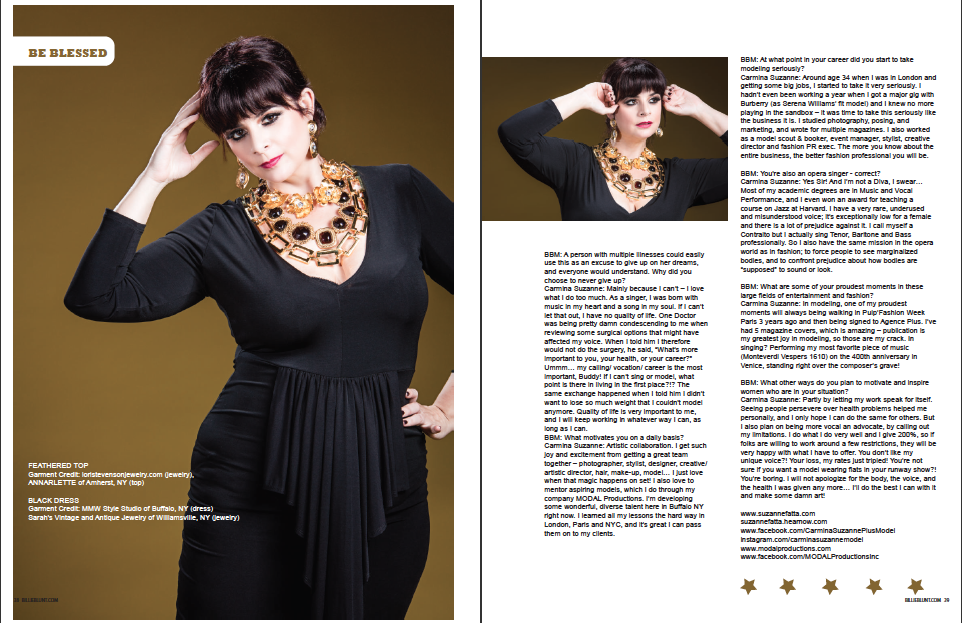 Black & Gold in BB Plug Mag