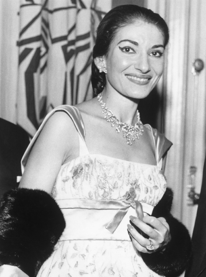 Maria Callas after her weight loss