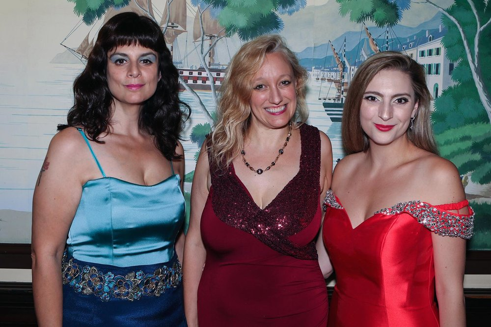 Three opera divas all in a row... Thanks to   Rick Warne Photography   and   Buffalo Magazine   for covering the   Nickel City Opera 10th Annual Opera Gala  ! Me (Carmen) with my beautiful blonde Soprano friends Andrea Todaro (Lauretta) and Jena Abati (Musetta). My custom gown is by Taylor Catarina NY.