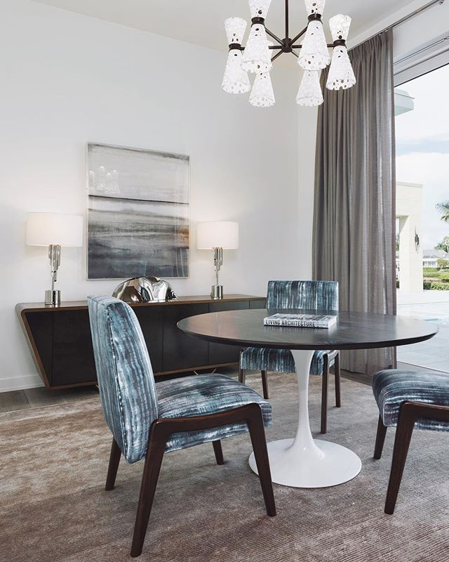 Senior Color Designer Sue Kim of @valsparpaint chose a misty blue as one of the 2019 colors of the year stating blues with a softened mistiness and haze promote a serene energy in the home. Set up a consultation with us to find out how to incorporate this gorgeous color into your living space! - Photo from one of our beautiful projects in Naples! 💙💠🌀 - #interiordesign #interiordesigner #nashvilleinteriors #nashvilleinteriordesign #interiorinspo #interiorinspiration #decor