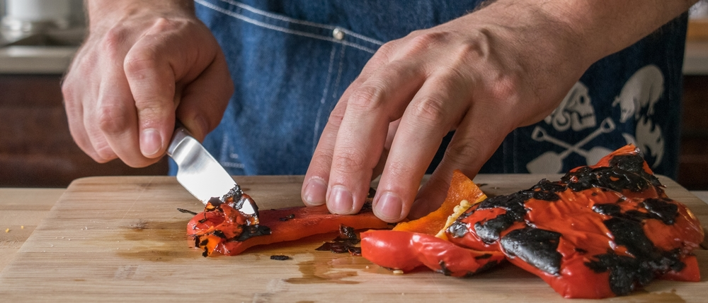The little extra work it takes to roast your own peppers is worth the flavor it adds!