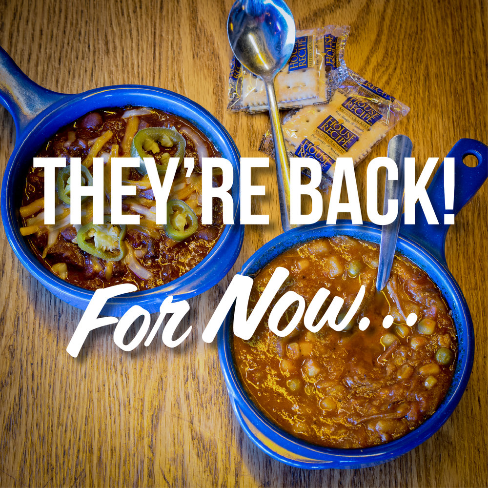 Smoked Brisket Chili and Brunswick Stew are BACK at Martin's Bar-B-Que Joint