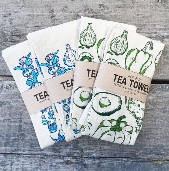 Veggie tea towels!! I'm so in love.
