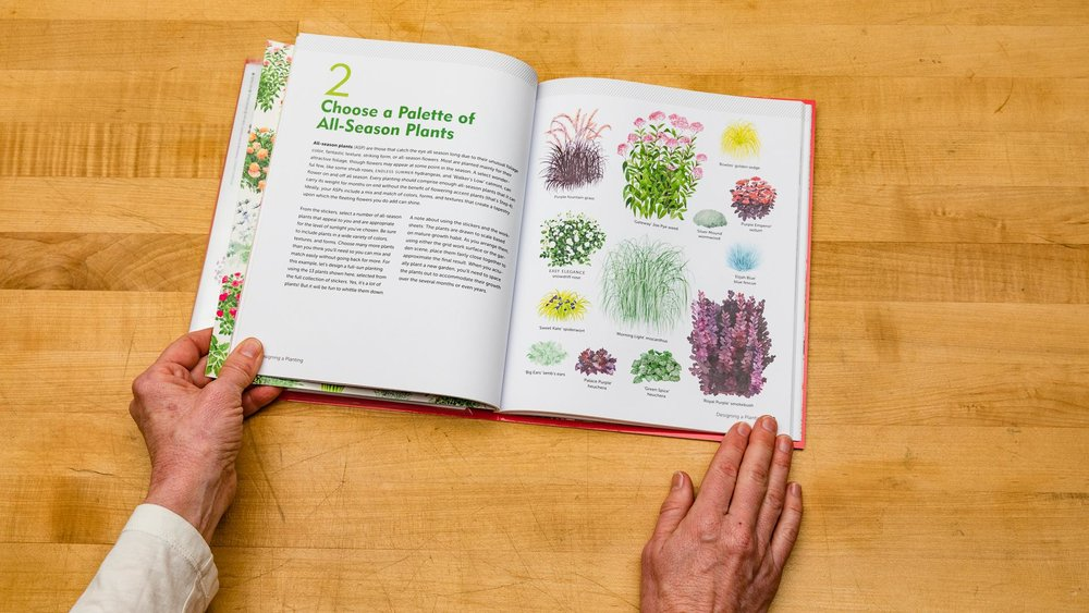 The book offers a simple 5-step method for combining plants in pleasing ways.