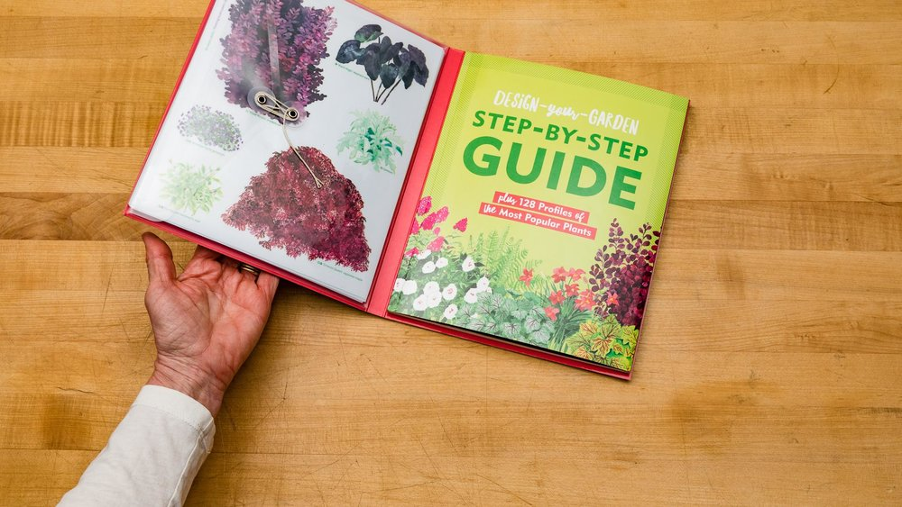 Design-Your-Garden Toolkit  is a fun book and design tool for novice and experienced gardeners alike.
