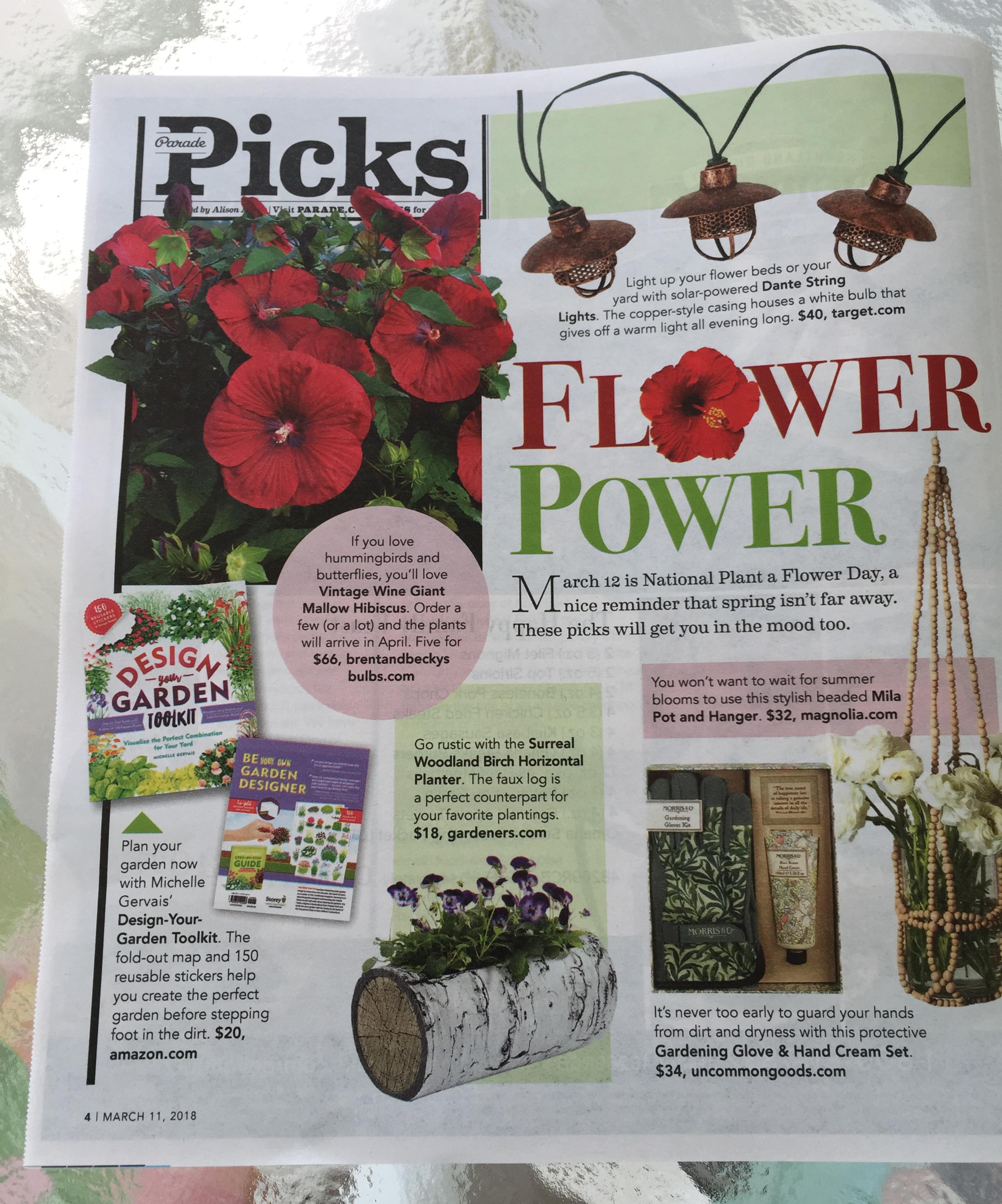 Parade magazine health column