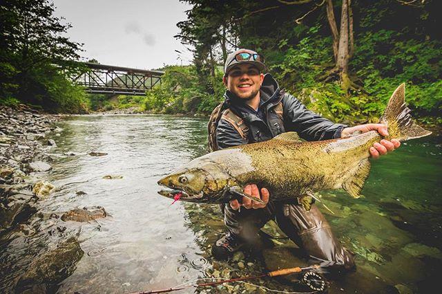 @monstamikea #sitka #ak . . . . . #flyfishing #alaska #chinook #salmon #king #waterfall #remote #river #simms #fishon #fish #neverstopexploring #getoutstayout #storm #7dmkii #canon #photography #catchandrelease