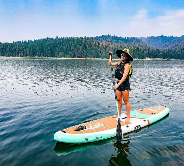 Another day on the water on @boteboards . . . . . #boteboards #paddleboard #lakes #idaho #id #pnw #getoutstayout #neverstopexploring #outdoors #water #forrest #paddle #mountains