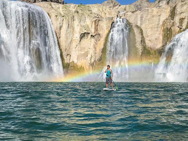 Epic days on the board. . . . . . #bote #paddle #board #idaho #waterfalls #water #boteboards #shoshonefalls #id #getoutside #neverstopexploring #columbiapfg #flyfish #waves #nature #snakeriver #getoutstayout
