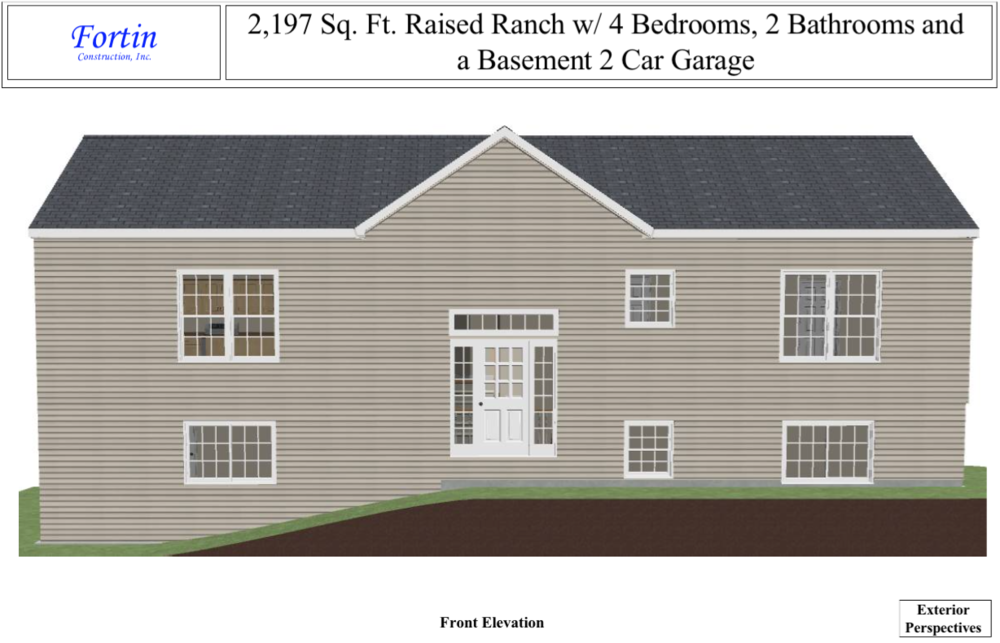 Raised ranch house plans fortin construction custom for Raised ranch home designs