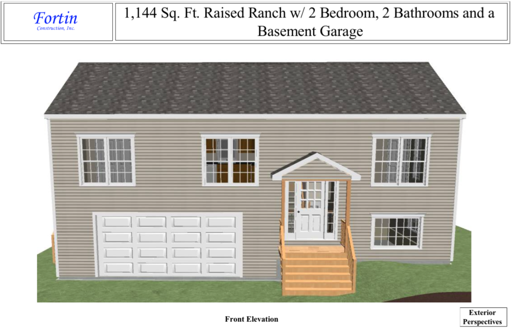 Raised ranch house plans fortin construction custom for Raised ranch floor plan
