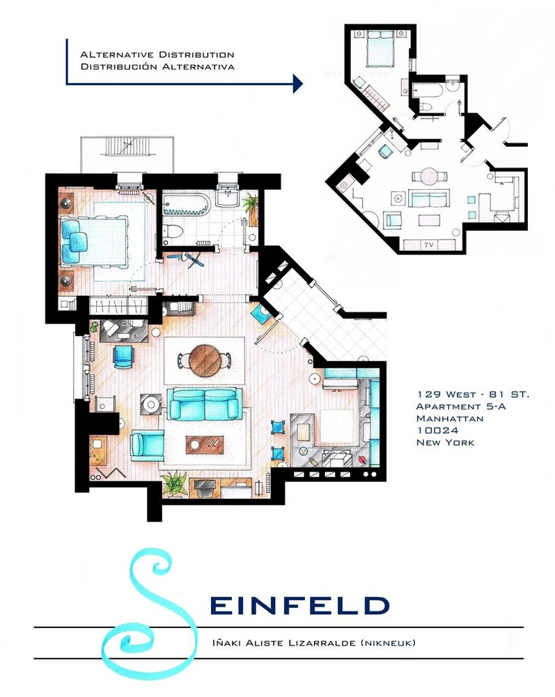 famous floor plans as seen on tv custom home construction 4 jerry seinfeld s apartment
