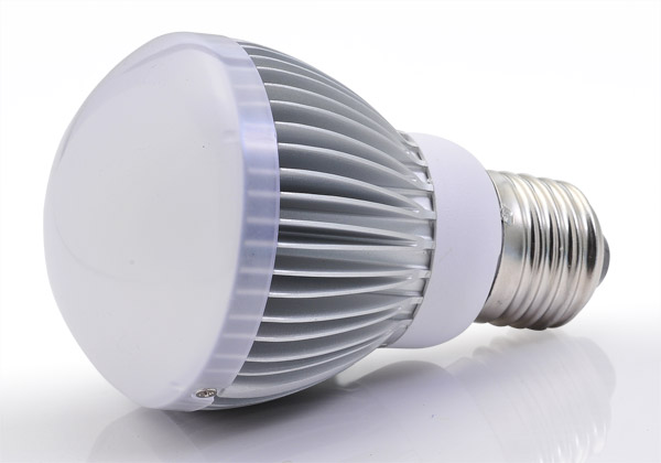 LED light bulbs, such as the one pictured above, provide greater energy efficiency and lower cost over the life of the bulb, which averages 50,000 hours, almost 50 times the average life of an incandescent bulb.