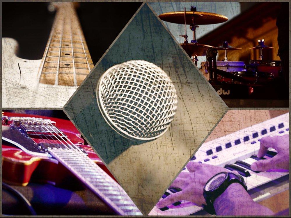 流行樂隊組合 - Suggested Combination 2- Vocal 主音- Digital Piano 數碼鋼琴- Acoustic Guitar 木結他- Electric Guitar 電結他- Bass Guitar 低音結他- Drum Kit 流行鼓