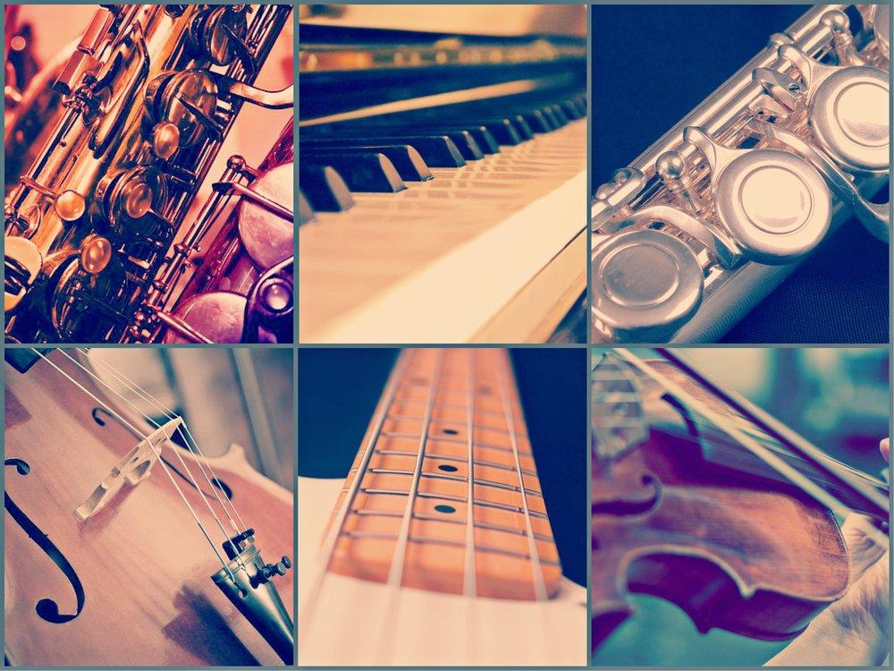 浪漫格調組合 - Suggested Combination 3- Flute 長笛- Saxophone 色士風- Digital Piano 數碼鋼琴- Bass Guitar 低音結他- Strings 弦樂:小提琴 及 大提琴