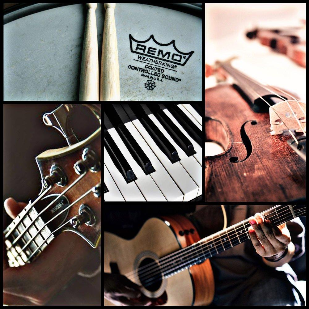 澎湃高貴組合 - Suggested Combination 4- Strings 小型弦樂團- Acoustic Guitar 木結他- Bass Guitar 低音結他- Digital Piano 數碼鋼琴- Drum KIt 流行鼓