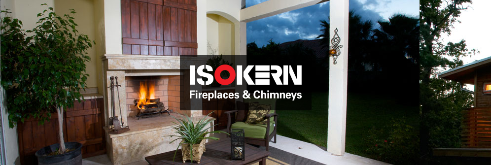 Isokern   Earthcore's Isokern line has become the most trusted modular system in the world. Isokern Fireplace & Chimney components are lightweight and less expensive to install than traditional masonry fireplaces. And, unlike typical metal box fireplaces or concrete systems, they are built to last forever.