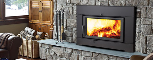 Easily insert into your existing masonry fireplace and stop losing as much  as 90% of your fire's heat up the chimney!  Click on images to link to manufacturers website. Visit or call our  Hamptons fireplace showroom and speak with our experienced staff a