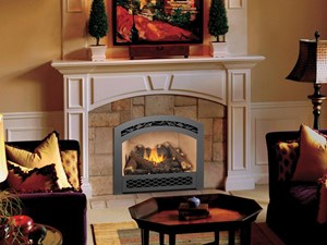 Fireplace Xtrordinair Our log sets and patented Ember Fyre™ technology create the illusion of real burning wood. But the hidden beauty here is convenience: a cozy fire at the touch of a button, even when the power's out; built in thermostats that regulate flame and heat; compatibility with LP and natural gas – your choice. All this comfort and convenience from clean-burning fuel.