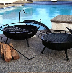 California Firepits Friends and family will be drawn to the charm and utility of this California favorite. Perfect for get-together's or just to unwind. Offers the function of a BBQ with the experience of an open fire.