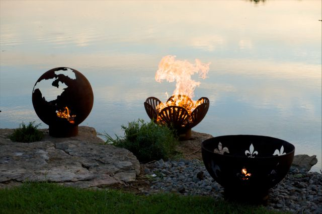 Fire Pit Art Functional steel art.  Our artistic simplicity paired with incredible durability will give you years of enjoyment.