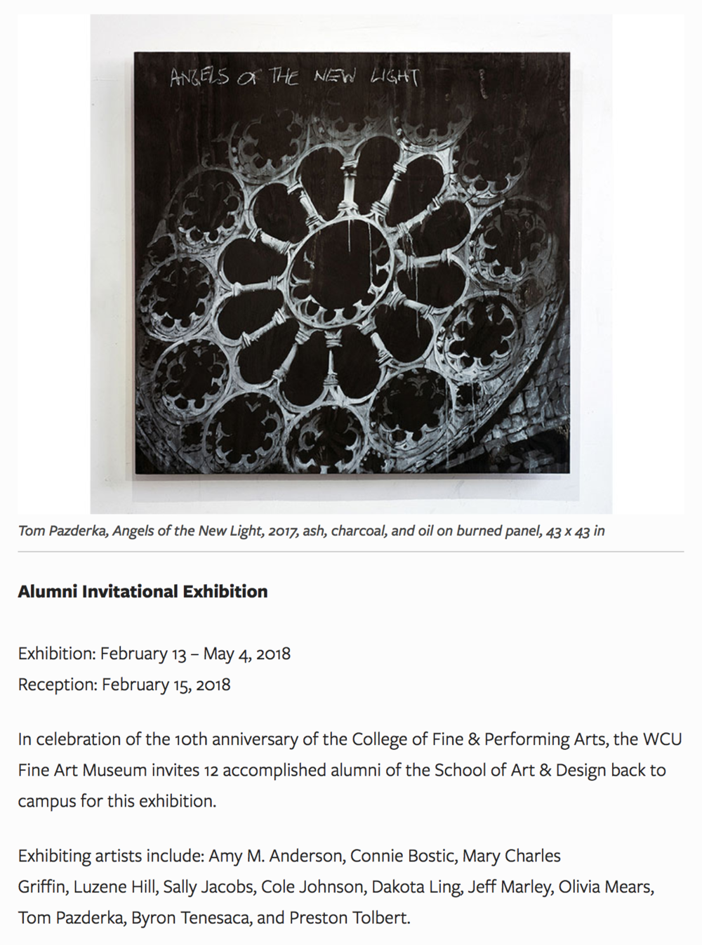 """""""Eggs For Breakfast""""  is part of the  Alumni Invitational   Exhibition  at  WCU Fine Art Museum"""