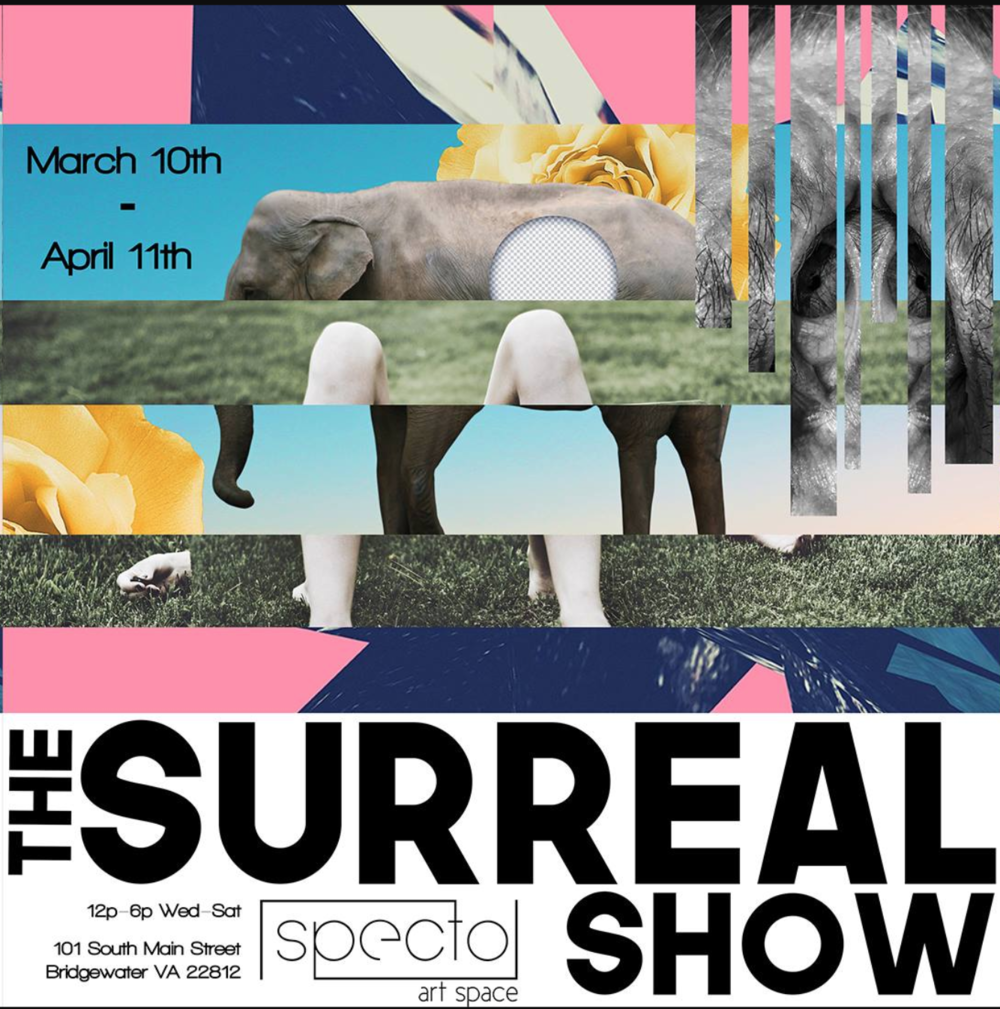 """""""Human Mound Nest"""" and  """"Paper Boat""""  will be part of  The Surreal Show  at  The Specto Art Space  in Bridgewater, VA"""