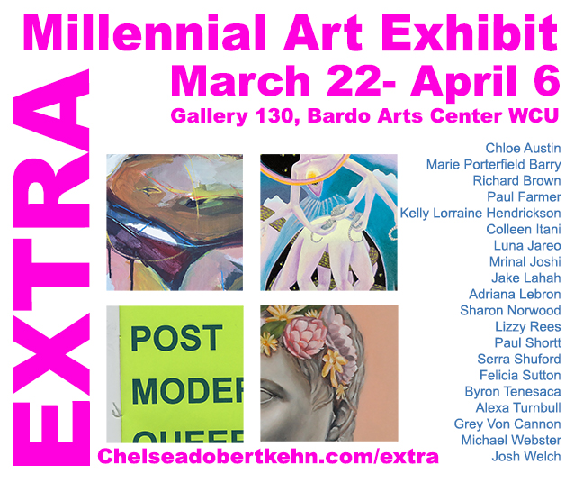 """""""The Aftermath of a Family Visit  """"  is part of the  EXTRA show at Galley 130 located in the Bardo Arts Center at WCU"""