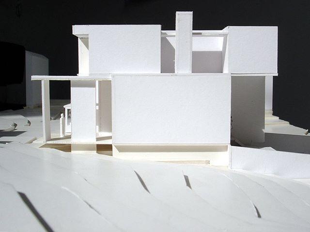 #tbt Florian-Hart, aka Burned House, study model ca. 2005 #o4w black to @jbonn90057 's white - we love it's new neighbor!