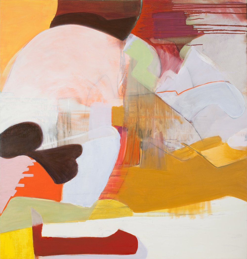 Enjambement, 2008, oil on linen over wood, 44 x 42 inches