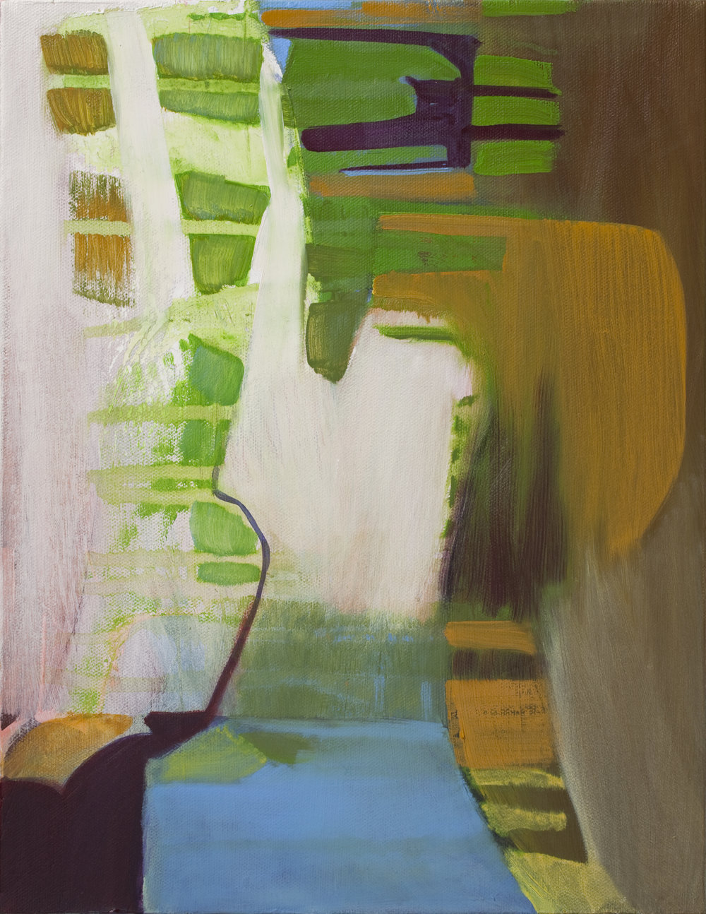 """8. Here And Now 2006, 14""""x 11"""", oil on canvas"""