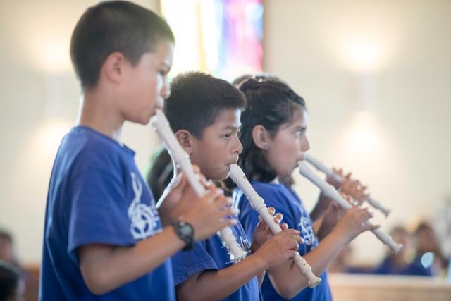 ELM wind instruments students