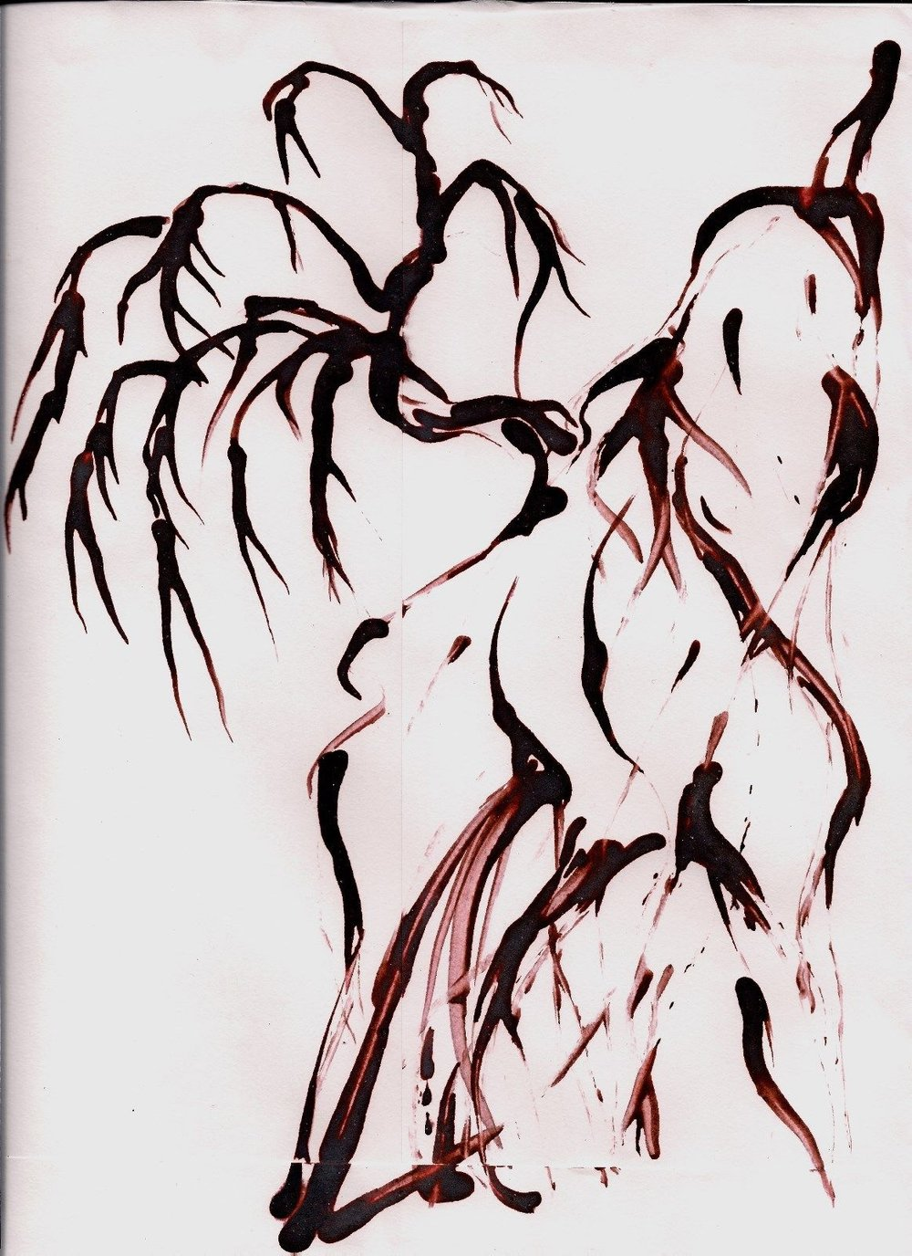 Lian Kool Aid art on manila envelope  Sumi TRee Mountain.jpg