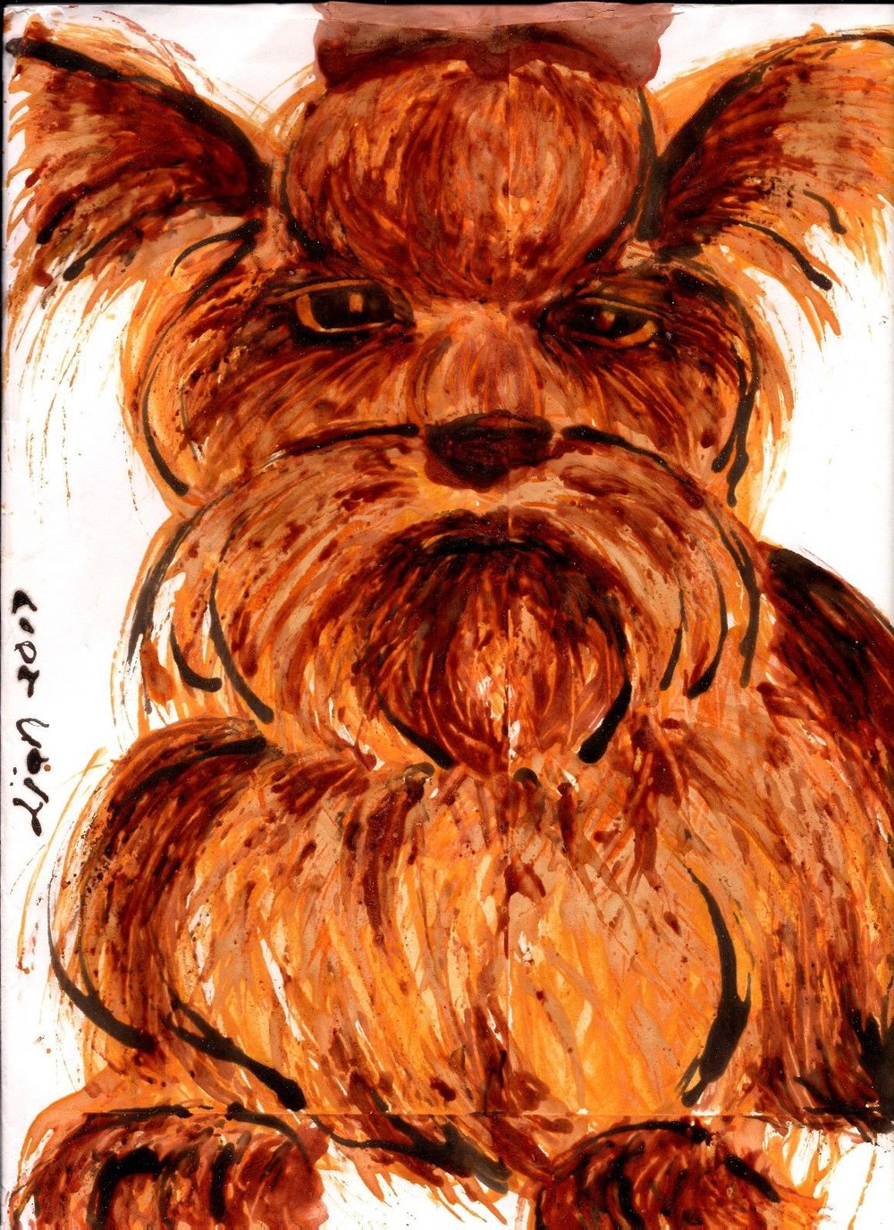 Lian Kool Aid art on manila envelope  Yorkie.jpg