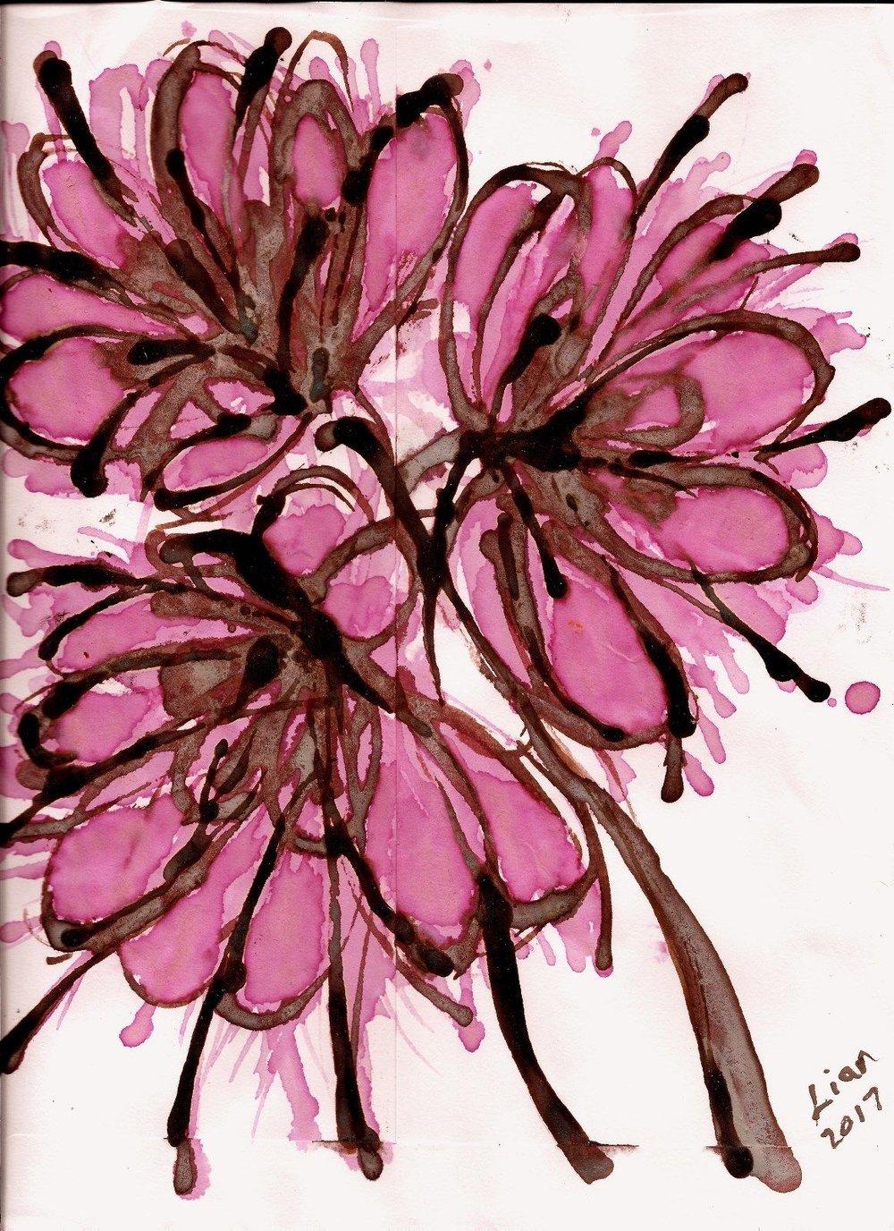 Lian Kool Aid art on manila envelope violets.jpg