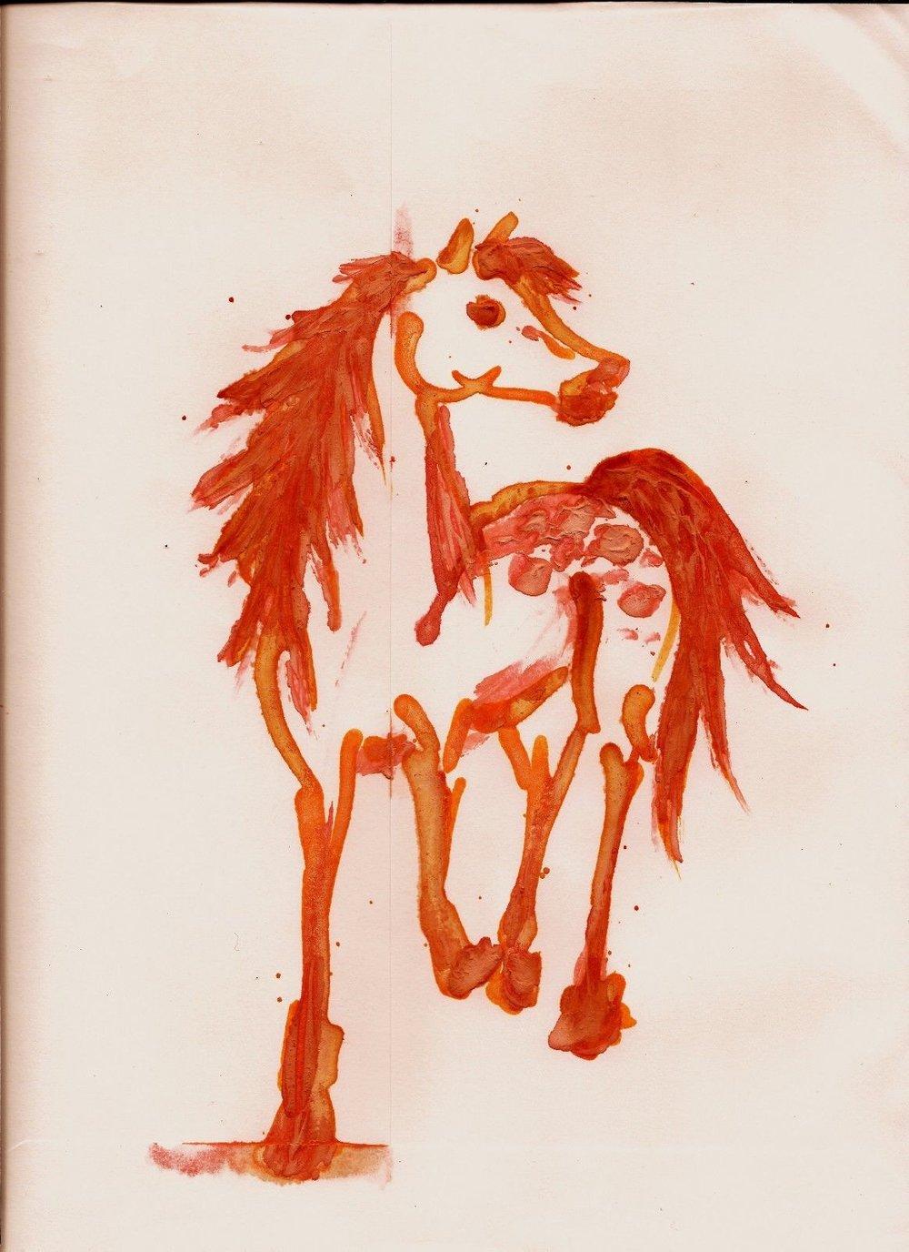 Lian Kool Aid art on manila envelope Apaloosa.jpg