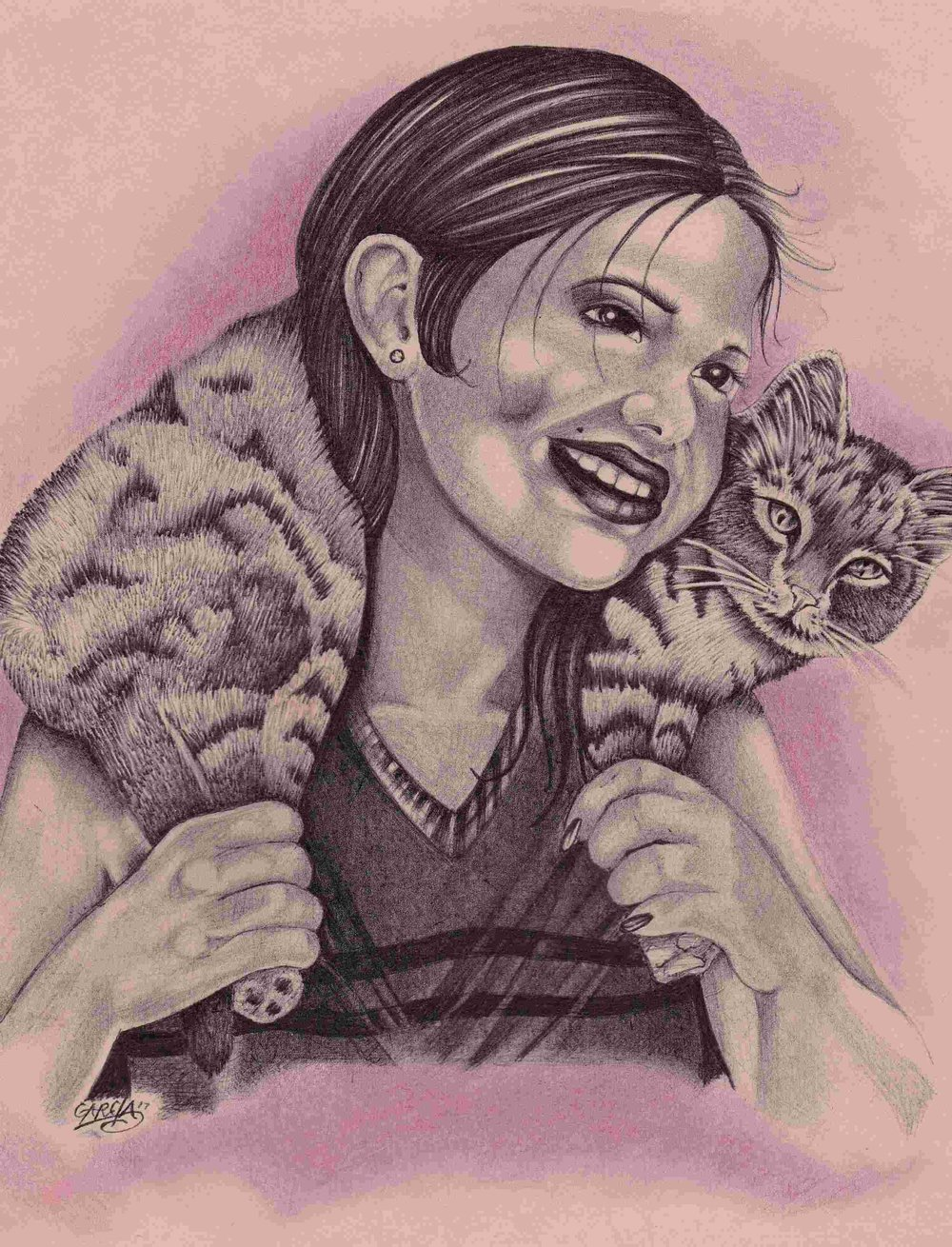 Happiness is a Cat by Garcia a-Happiness is a Cat by Garcia -cat art -cat drawing a - Copy.jpg