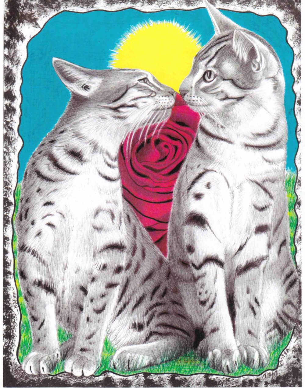 Kissing Cats  by Chris Avitea.jpg