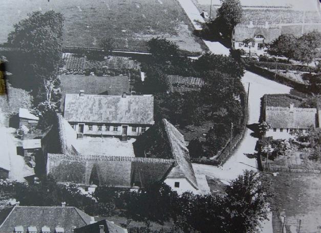 Blovstrød gamle landsbyhvor Blovstrød Byvej og Kærvej løber sammen