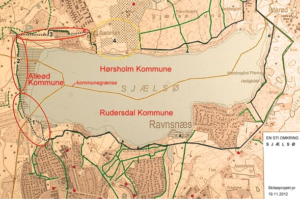 Allerød Kommune har siden 2010 indgået et samarbejde med Naturstyrelsen, Nordvand, Rudersdal og Hørsholm Kommuner om etablering af sti rundt om Sjælsø.