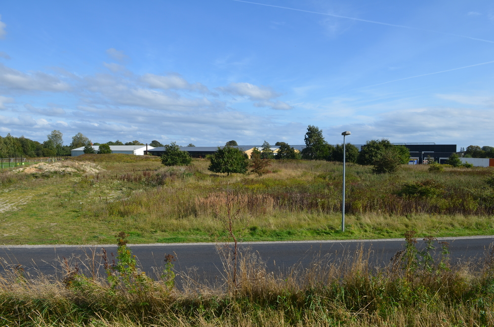 Inden opstillingen af selve pavillonerne skal der ske en større jordregulering. Foto: AOB
