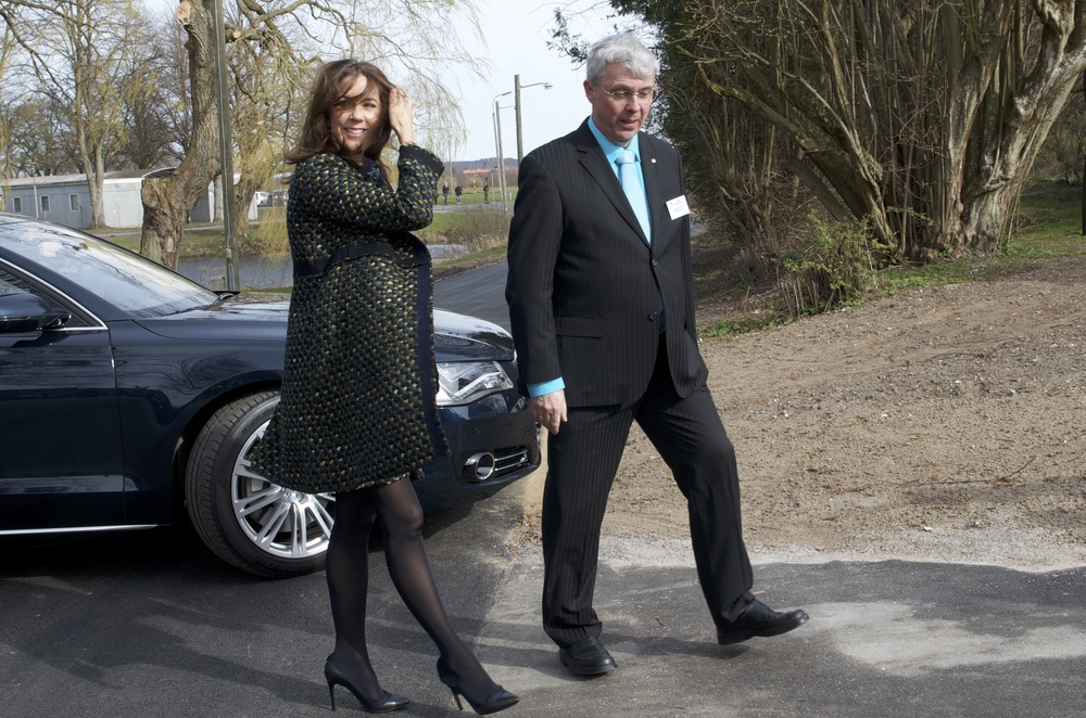 Hendes Kongelige Højhed Kronprinsesse Mary ved indvielsen af veteranhjemmet sidste år i april. Arkivfoto: AOB