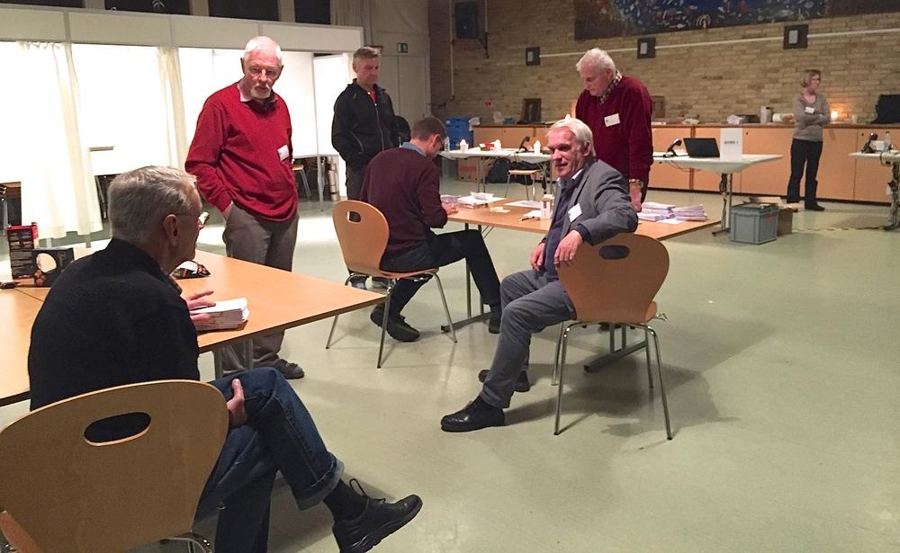 Stemmerne er talt op - men der kontrolleres en ekstra gang. Foto: AOB