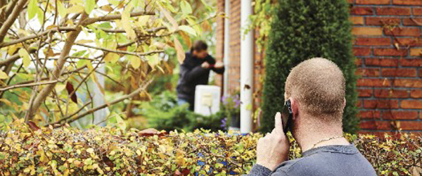 Indbrudstyvene bliver mest stressede, når naboer holder øje, er nysgerrige og spørger ind. Foto: Frederik Johs
